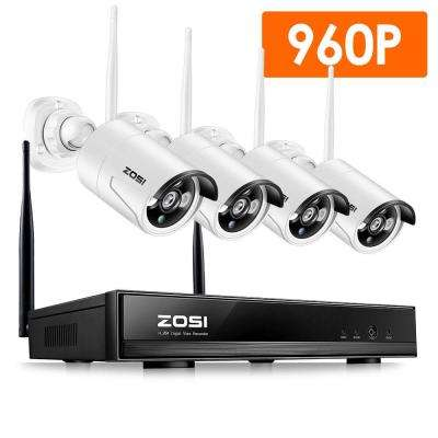 4-Channel 960p NVR Security Camera System with 4-Wireless Bullet Cameras