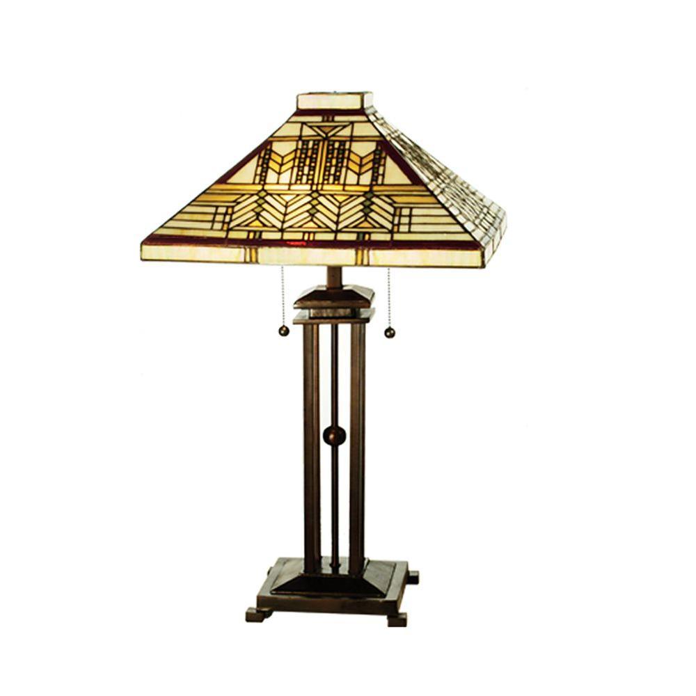 Illumine 2 Light Sumak Prairie Mission Table Lamp