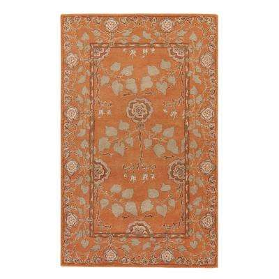 Golden Ochre 5 ft. x 8 ft. Floral Area Rug