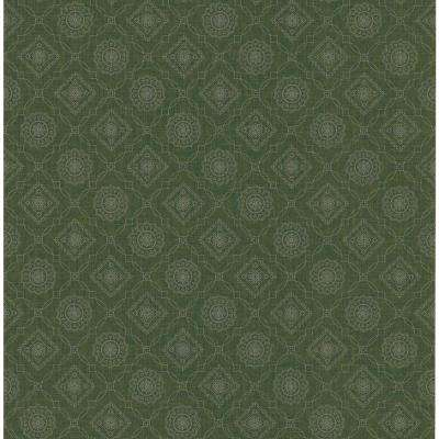 Northwoods Lodge Brown Bandana Print Wallpaper Sample