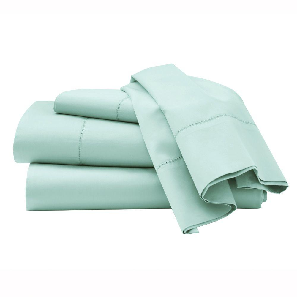 Home Decorators Collection Hemstitched Watery King Sheet Set