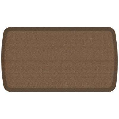 Elite Rattan Honey Brown 20 in. x 36 in. Comfort Kitchen Mat