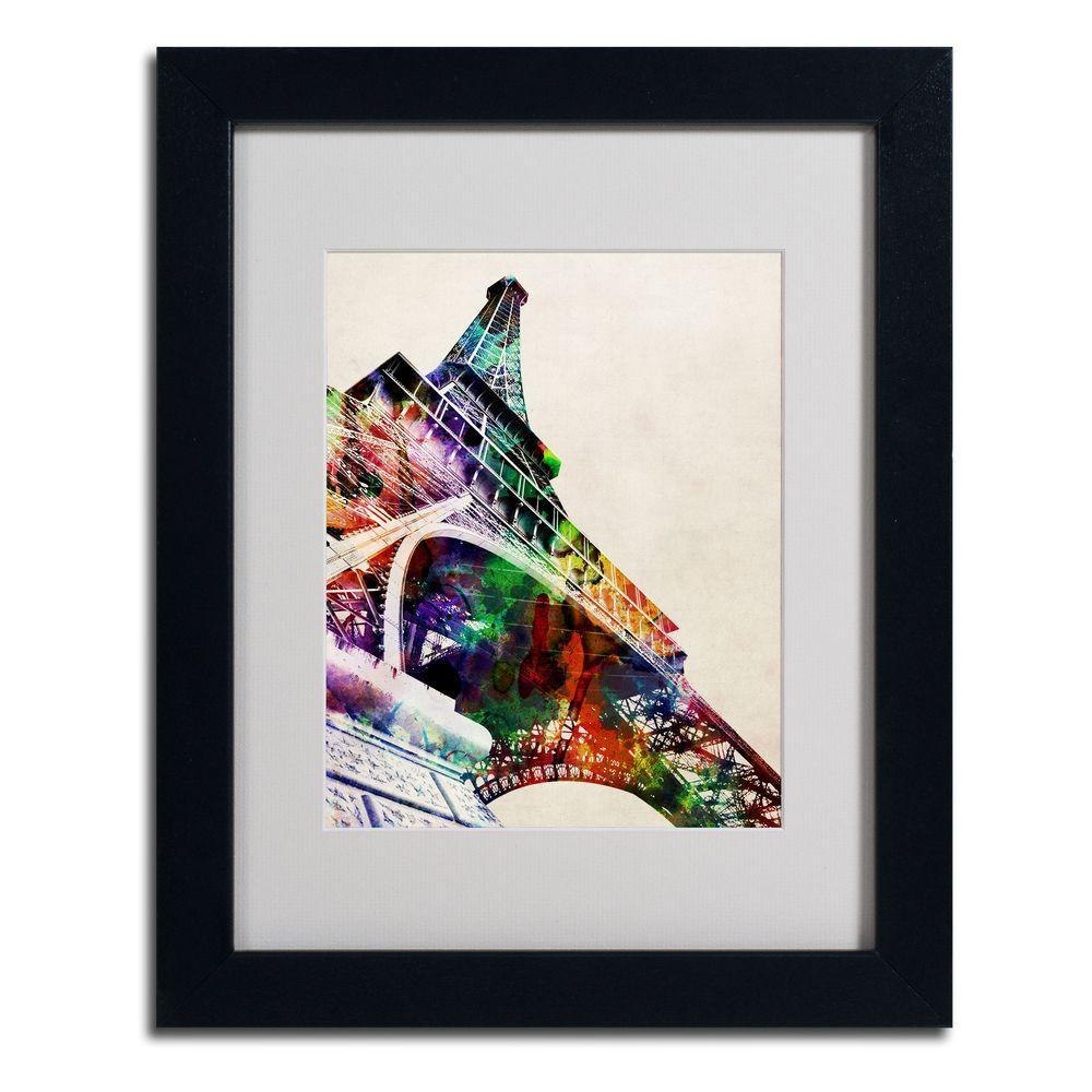 Trademark Fine Art 11 in. x 14 in. Eiffel Tower Matted Framed Art