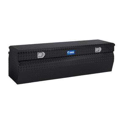 48 in. Aluminum Black Chest Box with Wedge