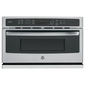 Ge Profile Advantium 30 In Single Electric Wall Oven With Sd Cook And Convection Stainless Steel Psb9120sfss The Home Depot
