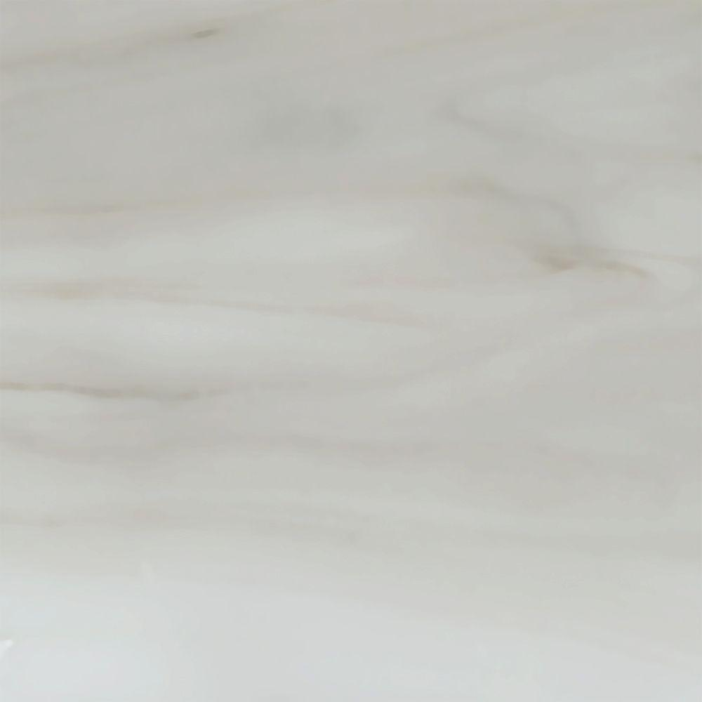 4 in. Cultured Marble Vanity Top Sample in White Quartz