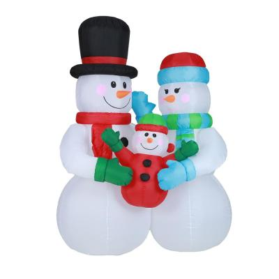8 ft. Snowman Family Inflatable with LED Lights