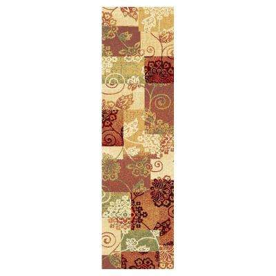 Patchwork Fame Multi 2 ft. 2 in. x 7 ft. 11 in. Rug Runner