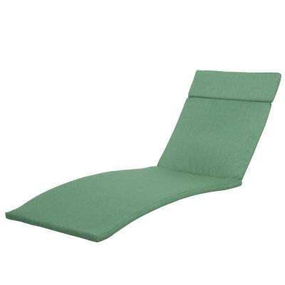 Miller Jungle Green Colored Outdoor Chaise Lounge Cushion (2-Pack)