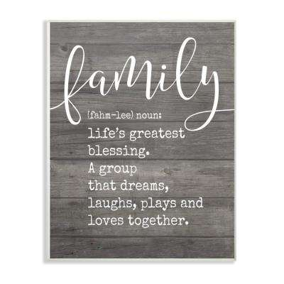 "12.5 in. x 18.5 in. ""Family Definition Planked"" by Lettered and Lined Printed Wood Wall Art"