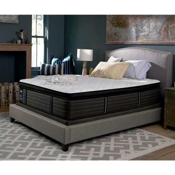 "Sealy 16"" Twin Cushion Firm Euro Mattress with 9"" High Profile Foundation"