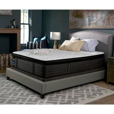 Response Premium 16 in. California King Cushion Firm Euro Pillowtop Mattress Set with 9 in. High Profile Foundation