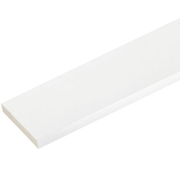 1 in. x 5-1/2 in. x 8 ft. White PVC Trim (4-Pack)