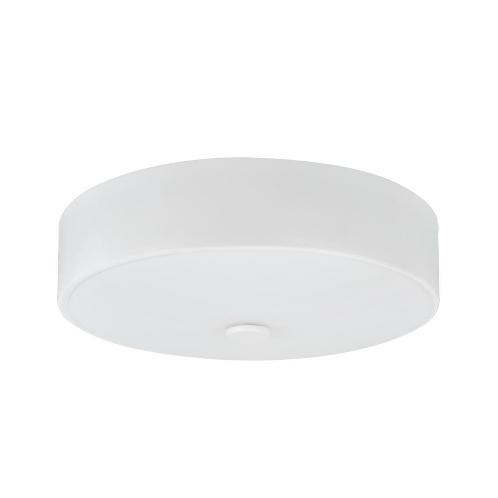 Aspen Creative Corporation 11 in. 11-Watt White Integrated LED Ceiling Flush Mount with Frosted Glass Diffuser