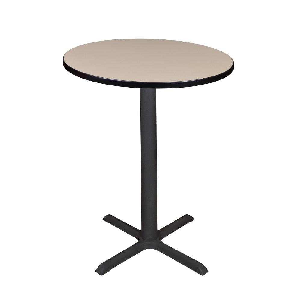 Regency Cain Beige In Round Cafe TableTCBRNDBE The Home Depot - Round metal cafe table