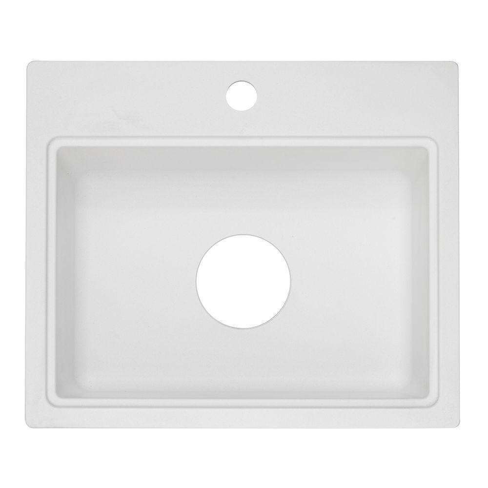 1 Hole Bar Sink In White