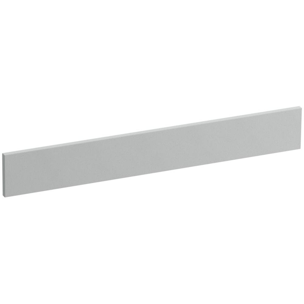 Solid/Expressions 25 in. Solid Surface Vanity Backsplash in Ice Grey Expressions