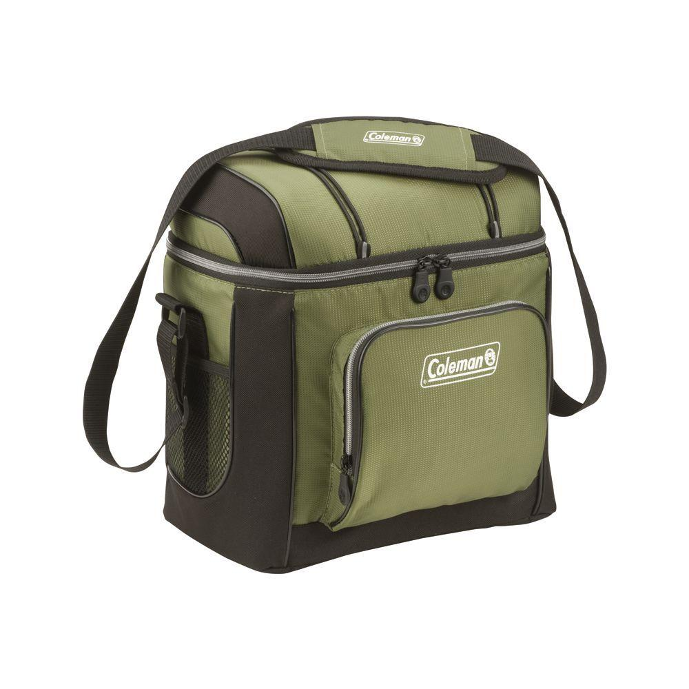 16-Can Green Soft-Sided Cooler with Liner