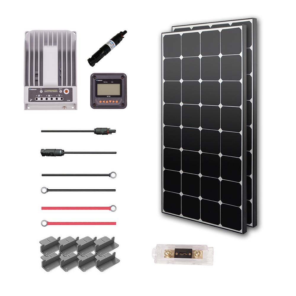200-Watt 12-Volt Eclipse Solar Premium Kit for RV, Boat and 12-Volt System