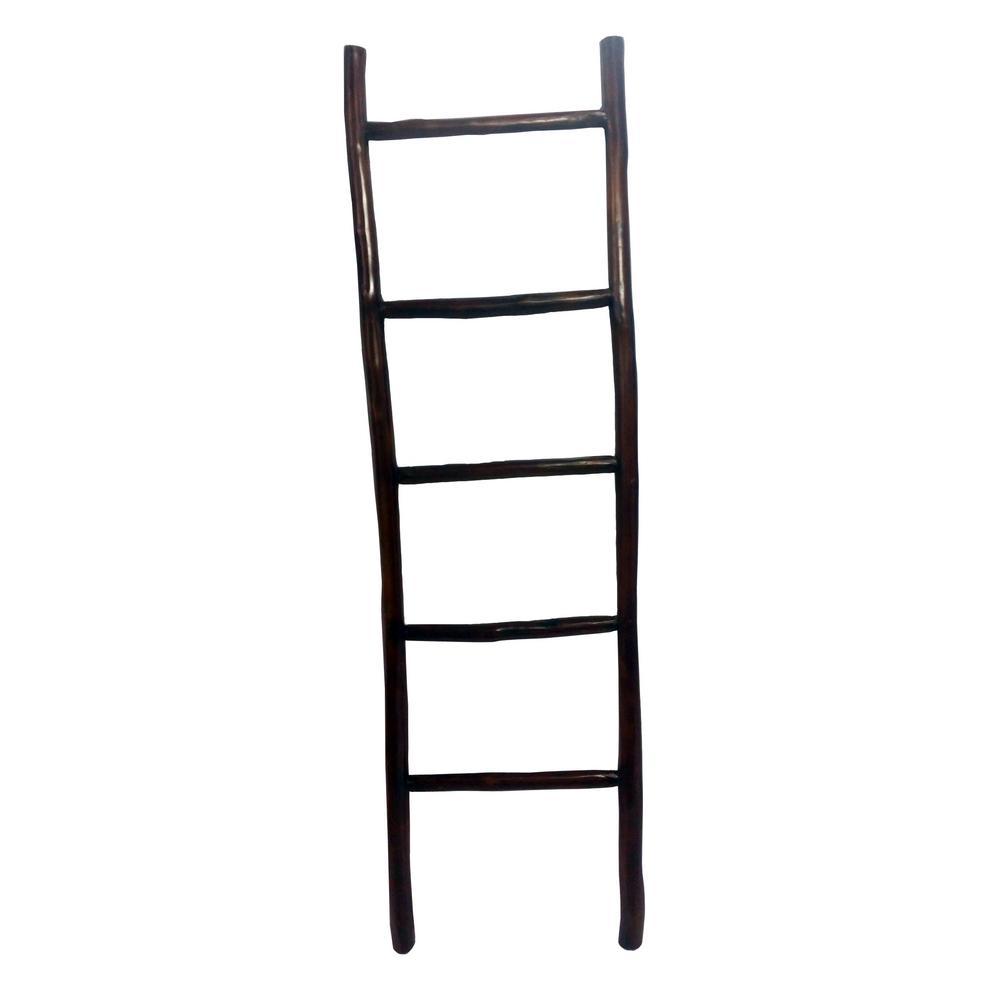 MGP 66 in. H Teak Log Ladder