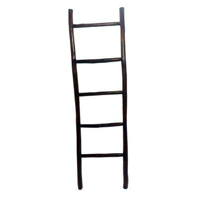 66 in. H Teak Log Ladder