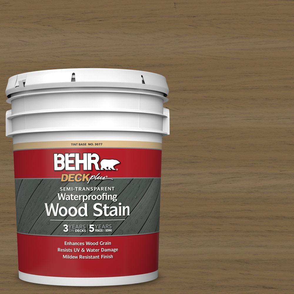 Behr Deckplus 5 Gal St 147 Castle Gray Semi Transparent Waterproofing Exterior Wood Stain