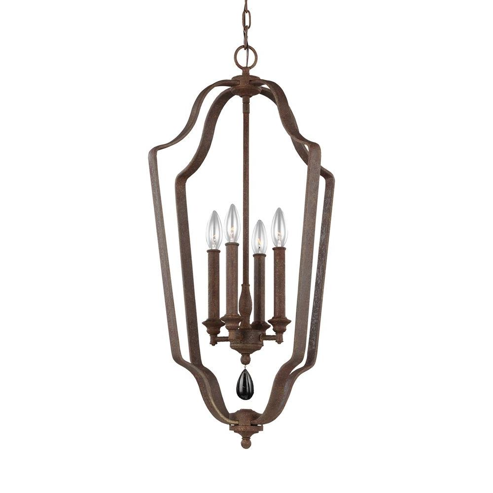 DeWitt 4-Light Weathered Iron Chandelier