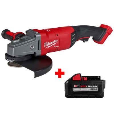 M18 FUEL 18-Volt Lithium-Ion Brushless Cordless 7/9 in. Angle Grinder with Free HIGH OUTPUT XC 8.0 Ah Battery