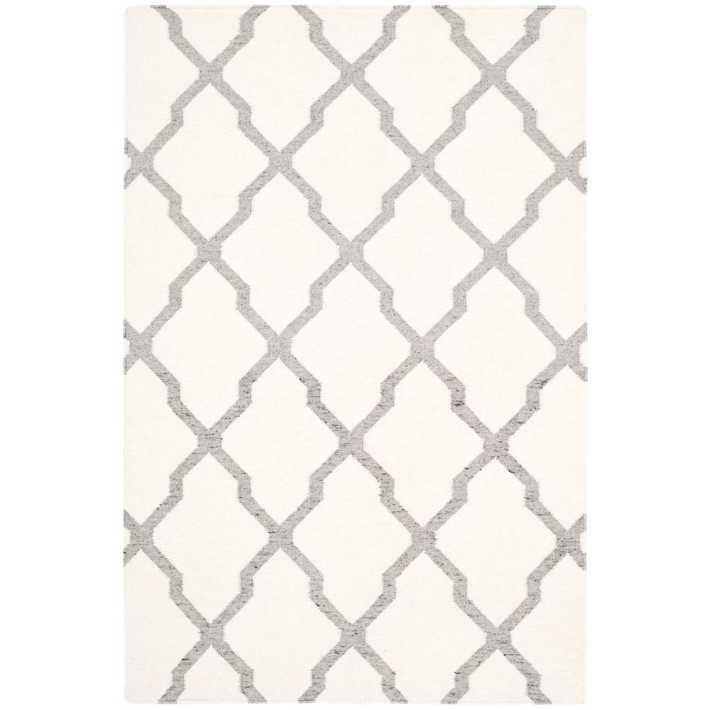 Safavieh Dhurries Ivory/Grey 4 ft. x 6 ft. Area Rug