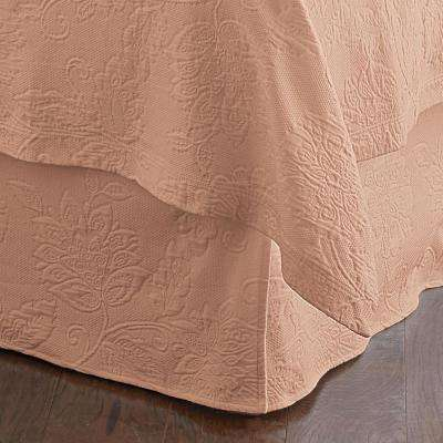 Putnam Matelasse Coral Queen Bed Skirt