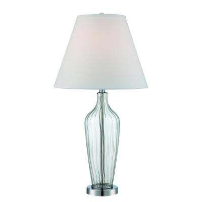 30 in. Polished Chrome Table Lamp
