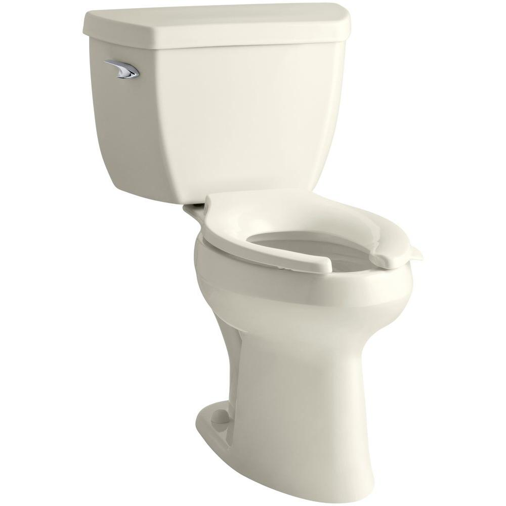 KOHLER Highline Classic 2-piece 1.6 GPF Single Flush Elongated Toilet in Biscuit