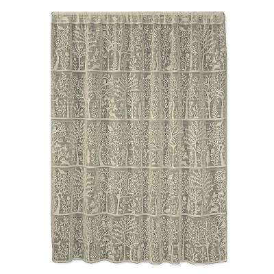 Rabbit Hollow Caf Lace Curtain 60 in. W x 63 in. L