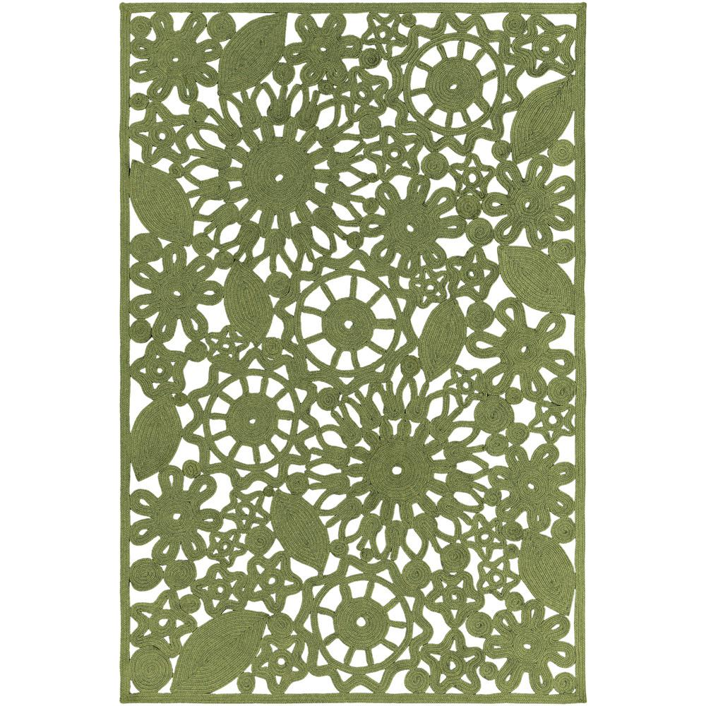 Cleome Dark Green 8 ft. x 10 ft. Indoor/Outdoor Area Rug