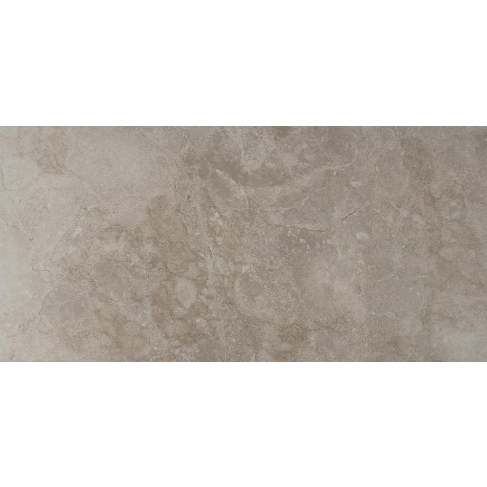 Ano Grey 12 In X 24 Glazed Ceramic Floor And
