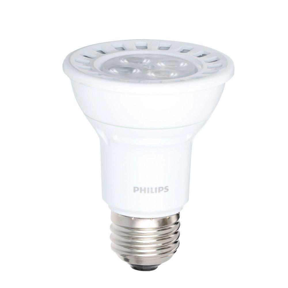 Philips 50W Equivalent Bright White (3,000K) PAR20 Dimmable LED Floodlight Bulb
