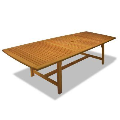 Hampton Bay Amazon Teak 112 in. Double Extension Patio Dining Table-DISCONTINUED