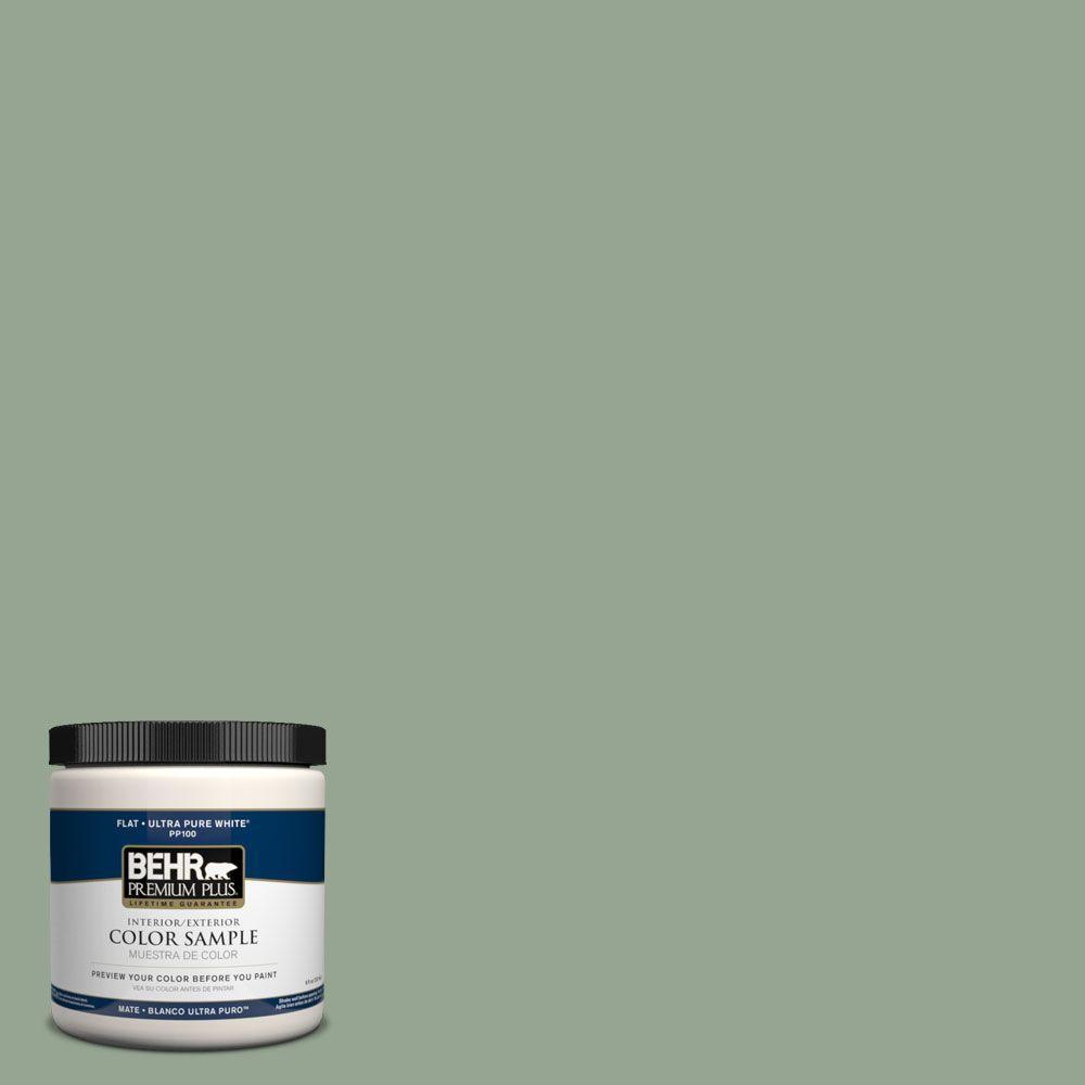 BEHR Premium Plus 8 oz. #PPH-53 Green Amazons Interior/Exterior Paint Sample