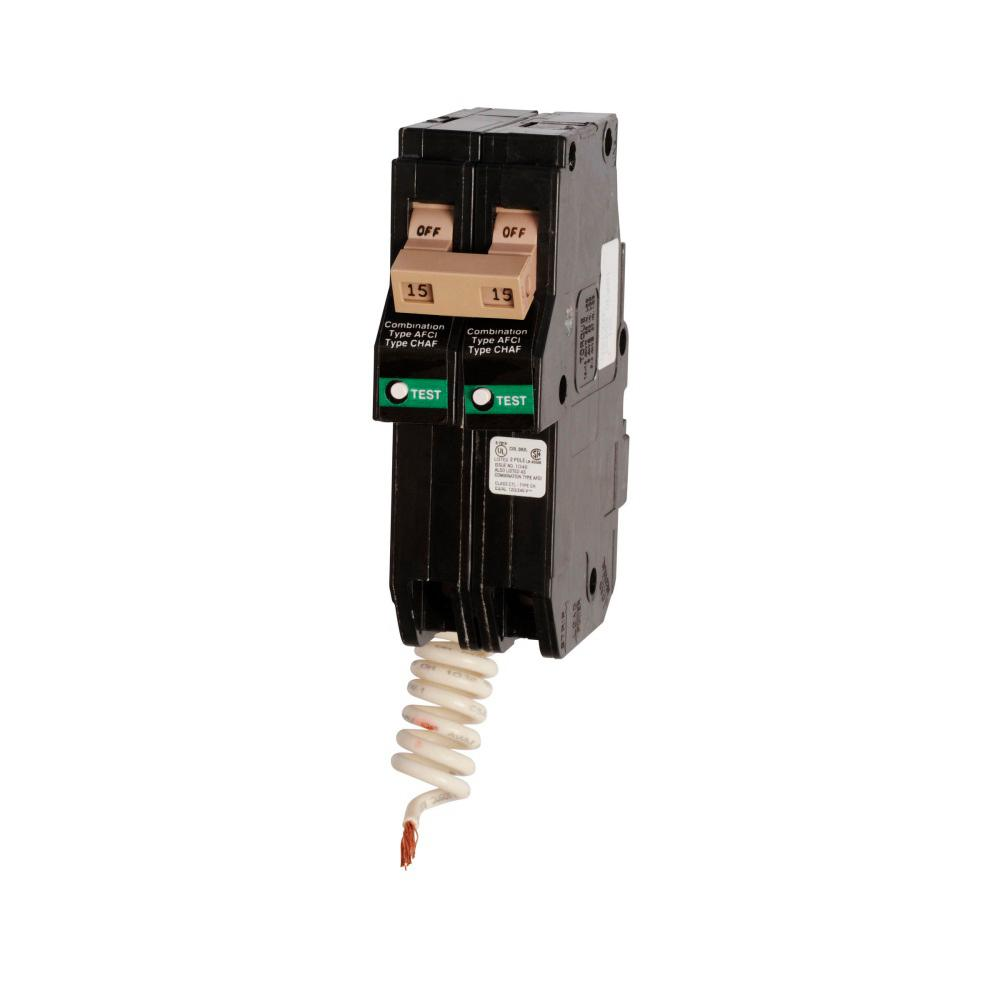 Eaton CH215CAF Type CH Combination Arc Fault Circuit Breaker 15 Amp 2 Pole