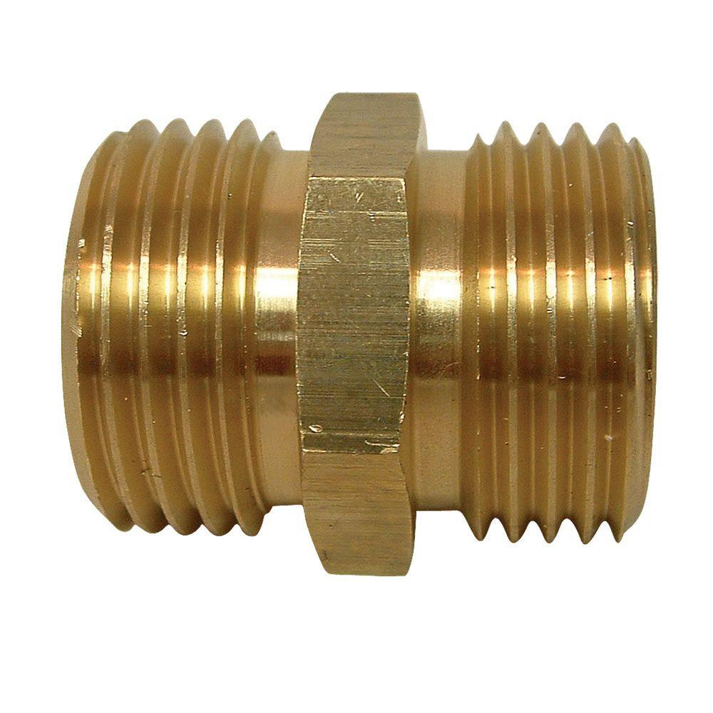 Everbilt Lead-Free Brass Garden Hose Adapter 3/4 in. MGH-801679 ...
