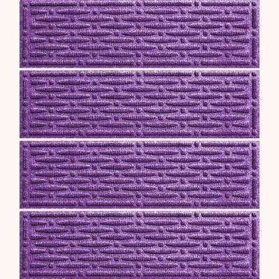 Purple 8.5 in. x 30 in. Mesh Stair Tread Cover (Set of 4)