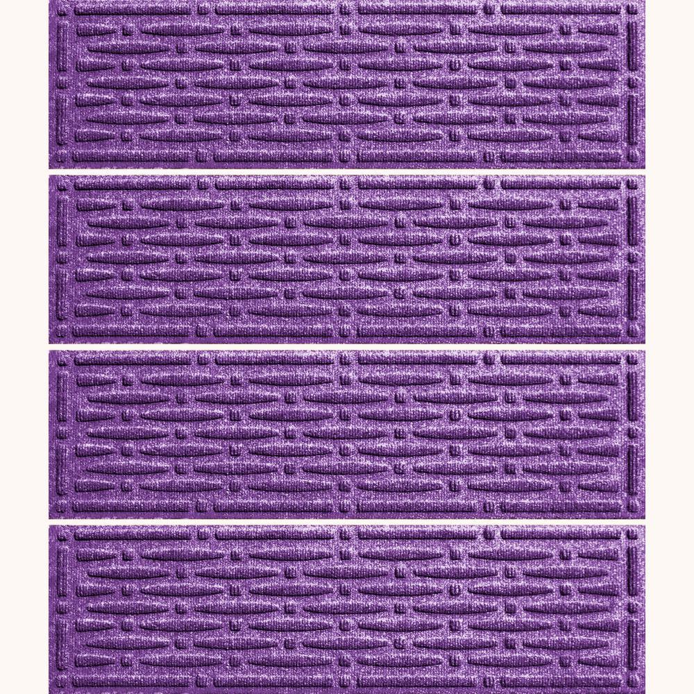Purple 8.5 in. x 30 in. Mesh Stair Tread (Set of 4)