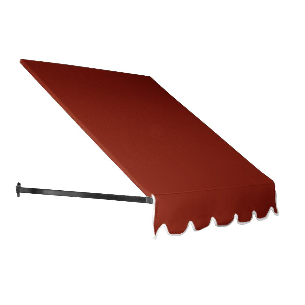 AWNTECH 35 ft. Dallas Retro Window/Entry Awning (44 in. H x 48 in. D) in Terra Cotta