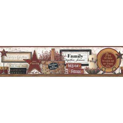 Friends and Family Shelf Wallpaper Border