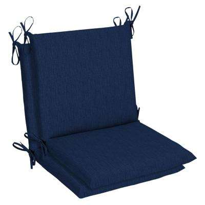 19 x 17 Sunbrella Spectrum Indigo Mid Back Outdoor Dining Chair Cushion (2-Pack)