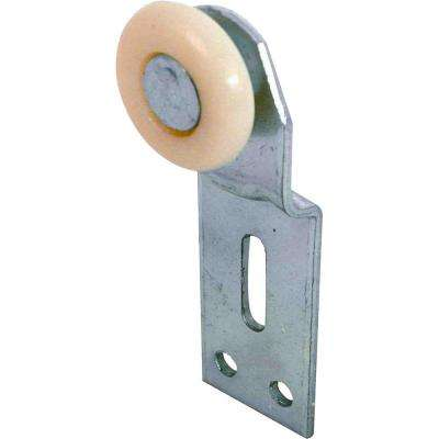 1 in. Front Position Top-Hung Bypass Closet Door Rollers and Brackets (2-Pack)