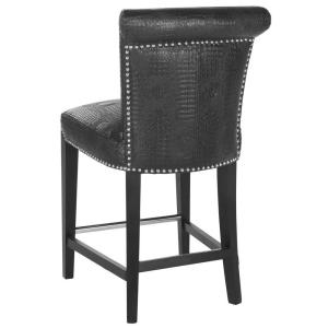 Awesome +4. Safavieh Seth 25.9 In. Black Croc Cushioned Bar Stool Good Looking