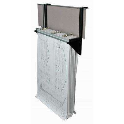 Cubicle Wall Rack for Blueprints, Grey