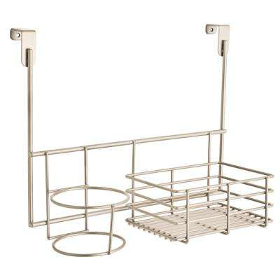 Over-the-Cabinet Accessory Holder in Satin Nickel
