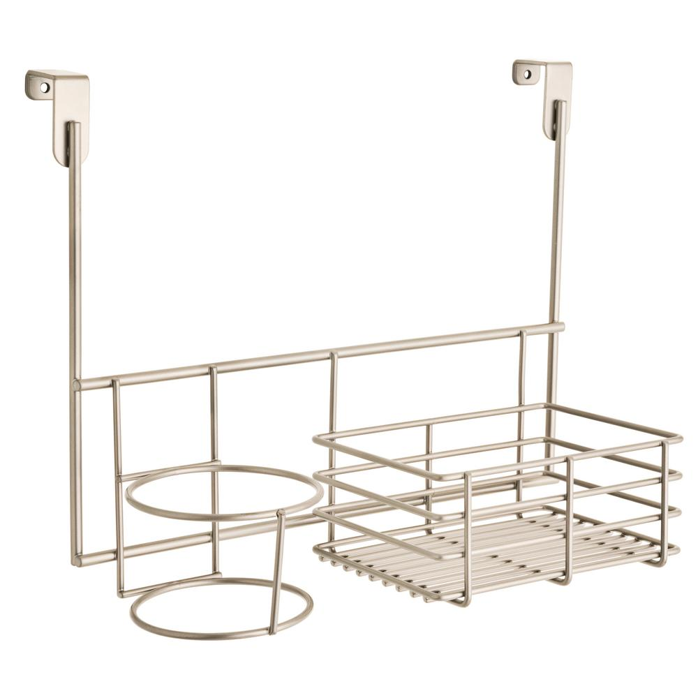 Franklin Brass Over The Cabinet Accessory Holder In Satin Nickel 193148 Fn The Home Depot